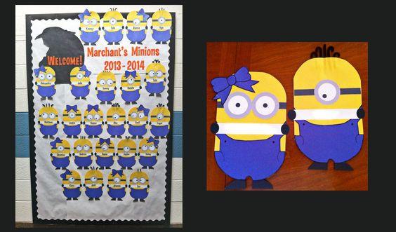 Minion Classroom Decor ~ Minions despicable me school bulletin board welcome to