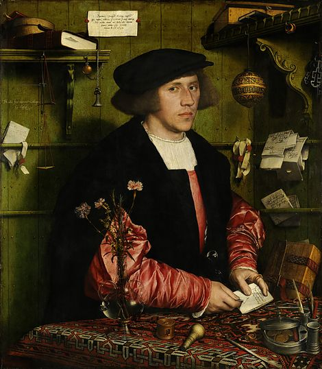 Hans Holbein the Younger, The Merchant Georg Gisze,1532 on ArtStack #hans-holbein-the-younger #art
