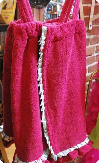 DIY  'Mini' Spa Towel Wrap by centsationalgirl #Girls #Towel_Wrap #centsationalgirl