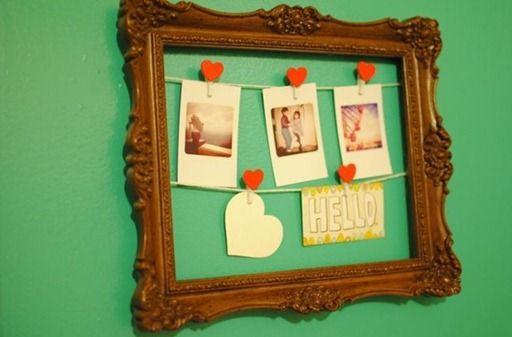 Marco de cuadro decorado para fotografías | Muebles reciclados ...