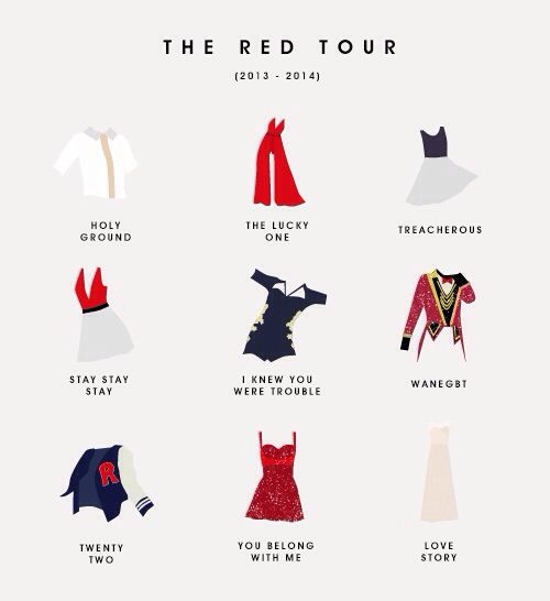 T swift tour costumes