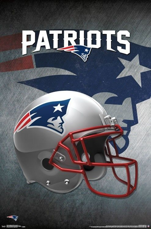 New England Patriots Poster Football Wall Art Print 22x34 New England Patriots Helmet Nfl New England Patriots New England Patriots Logo