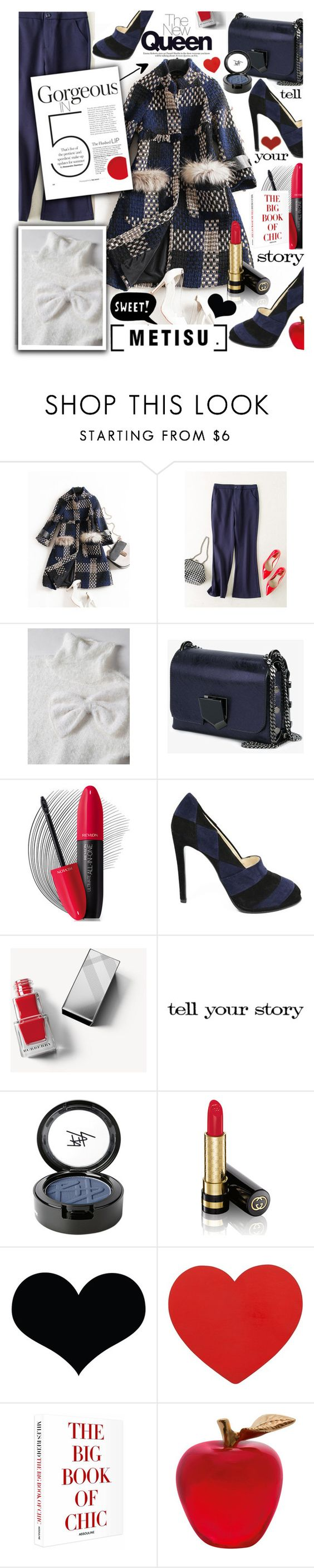 """""""METISU CONTEST - Count down to METISU BLACK FRIDAY!!"""" by anin-kutak ❤ liked on Polyvore featuring Jimmy Choo, Revlon, Giorgio Armani, ESPRIT, Burberry, Tim Holtz, Beauty Is Life, Gucci, Hysteric Co. and Daum"""