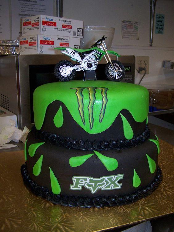 monster motorcross cake