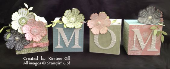 Moms Decor Blocks: Twitterpated Designer Paper, Mixed Bunch Stamp Set