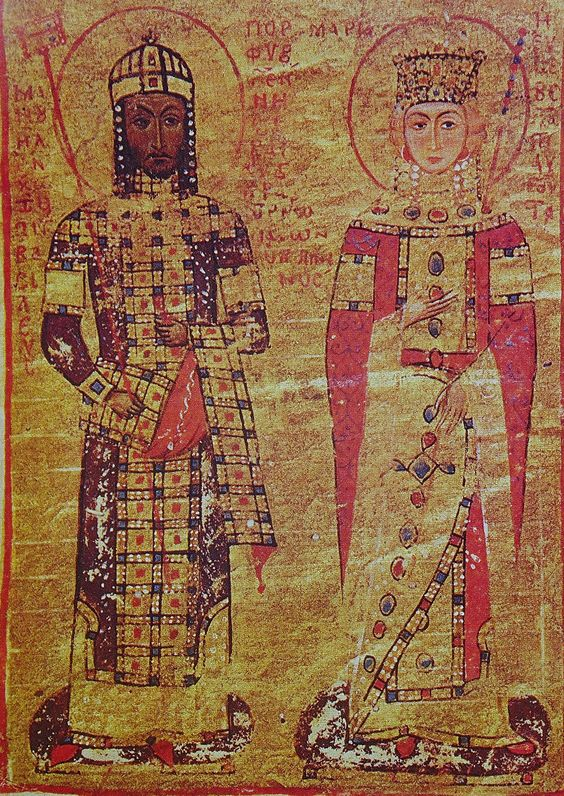 Manuel I Komnenos wearing the modified loros, 12th century.