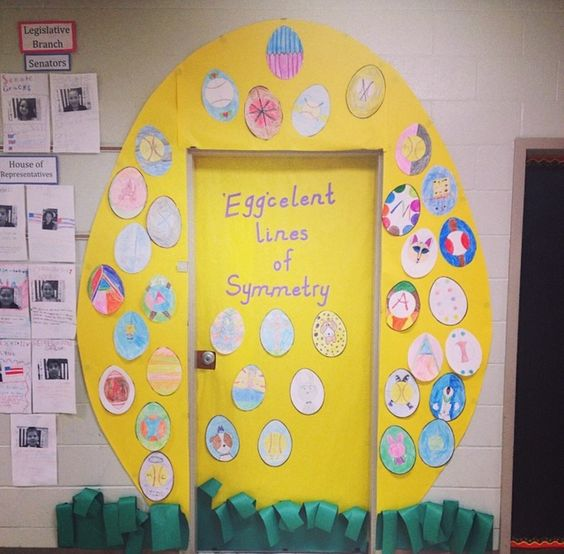 Classroom Easter Ideas : Classroom door decorations for easter