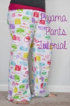 DIY Tutorial DIY Sleepwear / DIY: How to Sew Your Own Pajama Pants - Bead&Cord