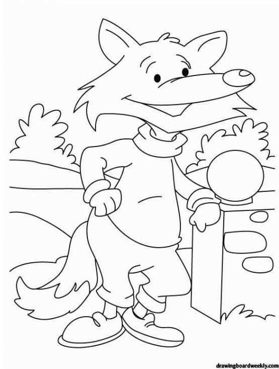 Fox In Socks Coloring Page In 2020 Fox Coloring Page Coloring Pictures Animal Coloring Pages