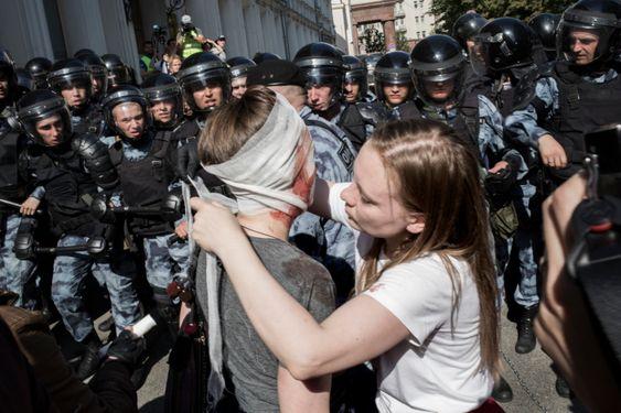 Как полиция и Росгвардия целый день били москвичей: 27 июля. Лучшие фотографии «Новой»