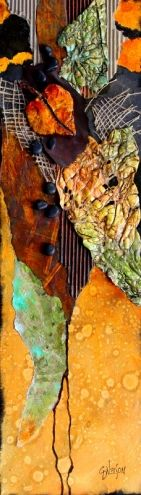 Mixed Media Abstract, Remnants by Carol Nelson Fine Art, painting by artist Carol Nelson