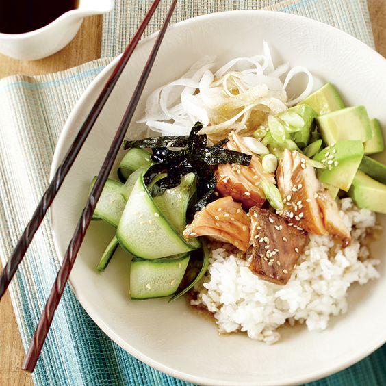 Bol-repas saumon teriyaki