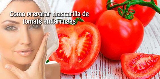 Como preparar mascarilla de  tomate antiarrugas