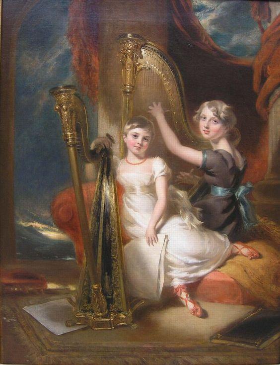Harlow, George Henry (1787-1819) - Portrait of Louisa and Eliza Sharpe