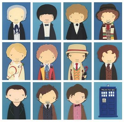 nerd love - The Doctors @Amanda Crenshaw your sis should use this as inspiration for her finger puppets.