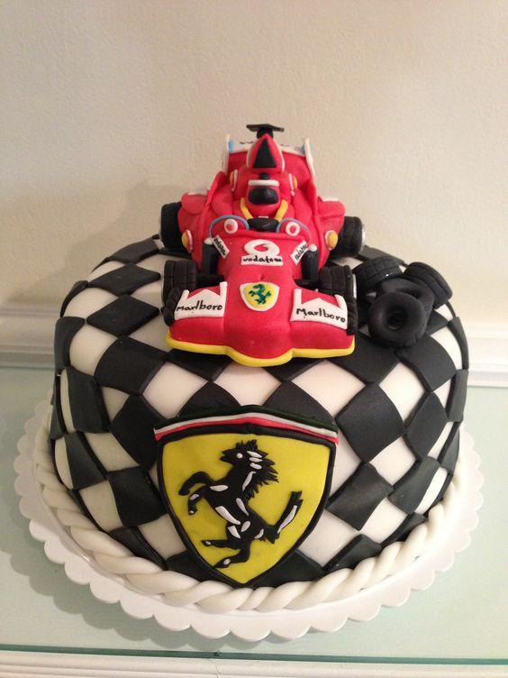 Formula 1 ferrari cake nete 39 s custom cake design for F1 car cake template