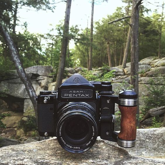 Here we see a mighty Pentax 6x7 in its natural environment. @eeeehall is shooting with this beast in the stunning Purgatory Chasm State Reservation #cameracult #pentax #pentax6x7 #mediumformat #filmcamera #slr #takumar #cameraporn #purgatory #explore #beastmode #battlescars #analog #shootfilm #filmisnotdead