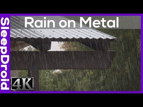 Fall Asleep Fast 4k Rain Video 5 Hours Rain On Tin Roof Rain Video For Sleeping Real Rain Youtube Rain And Thunder Sound Of Rain Meditation Music