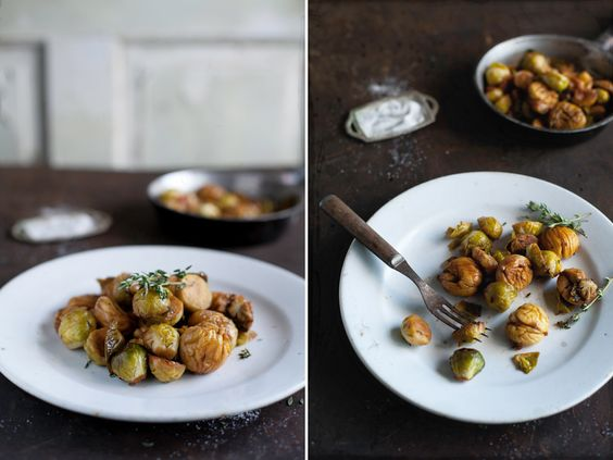 Braised Chestnuts & Brussels Sprouts with Thyme - I have a Brussels Sprouts addiction
