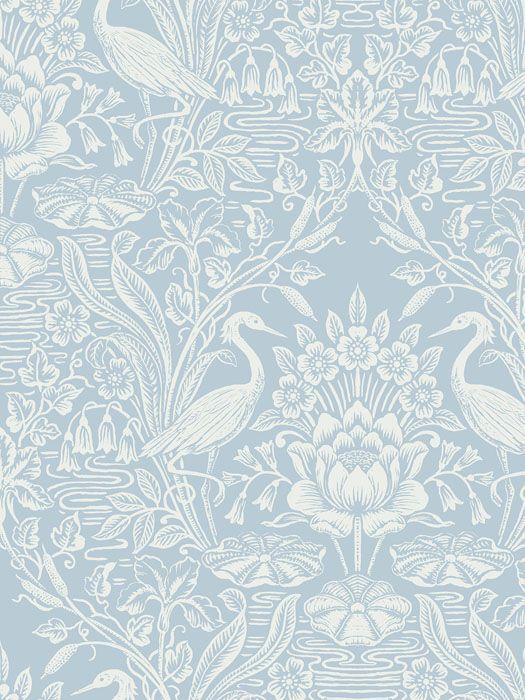 Toile Wallpaper Steve S Blinds, Bathroom Wallpaper Patterns