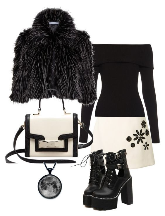 """""""black"""" by retnoayu ❤ liked on Polyvore featuring Marc Jacobs, A.L.C., Gina Bacconi, WithChic, Kate Spade, women's clothing, women, female, woman and misses"""