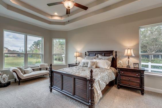 Model Home In John S Landing Master Bedroom With Step Ceiling