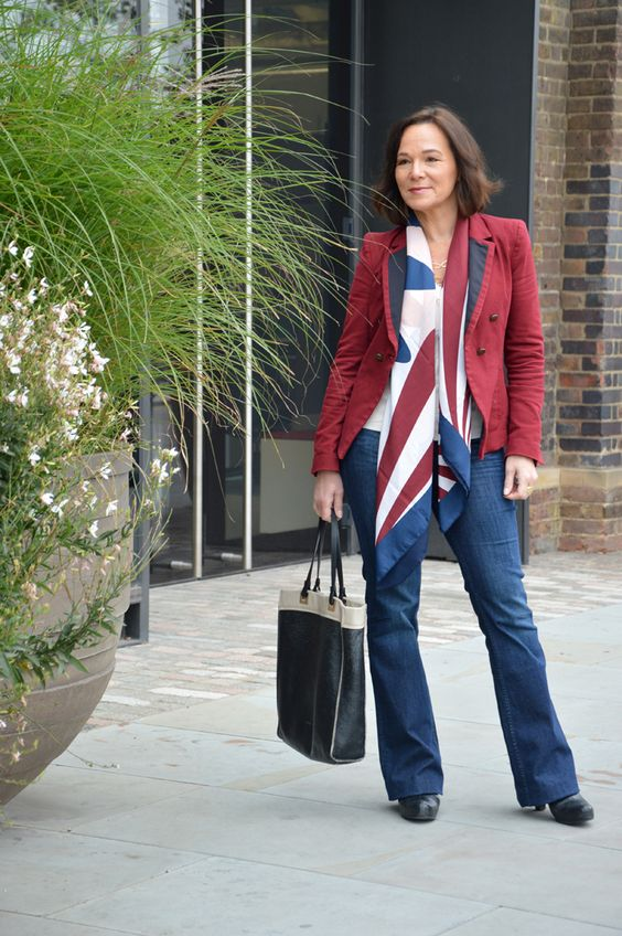 Lady of Style: Jeans Blazer Shirt Business Style