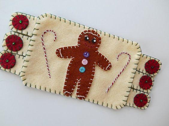 Gingerbread Man Mug Rug Coffee Mat Holiday By Mountaindolls