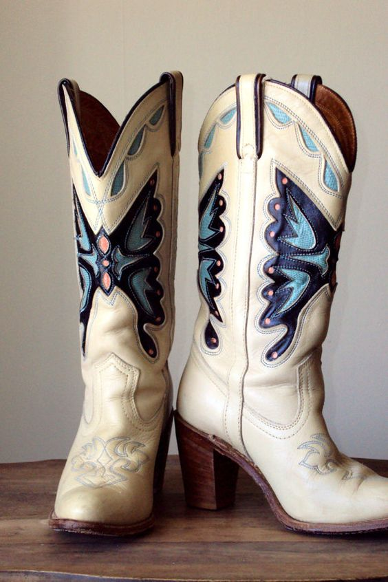 70s boots - cowgirl boots - western boots - Miss Capezio ...