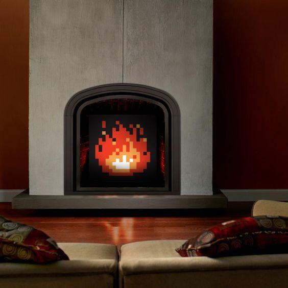 Fireplace screen?? Bahaha, I love it.