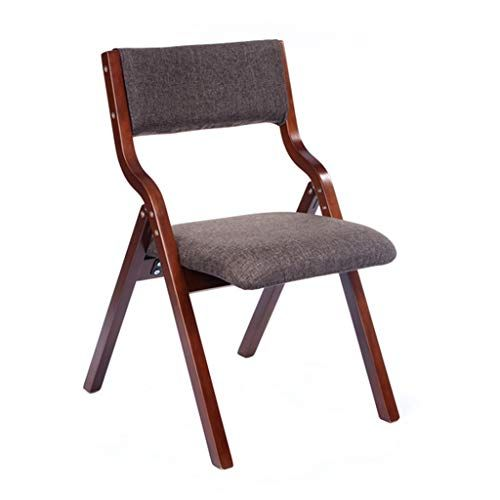 Solid Wood Office Chair Back Support Furniture Dining Chair Reception Chair Foldable Dark Gray Folding Dining Chairs Furniture Dining Chairs Retro Chair