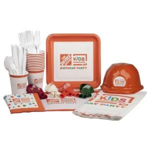 Great idea! Throw a Kids Workshop Birthday Party with this Party Supply Kit at The Home Depot! Wooden kits also available online - http://thd.co/1T0URVK