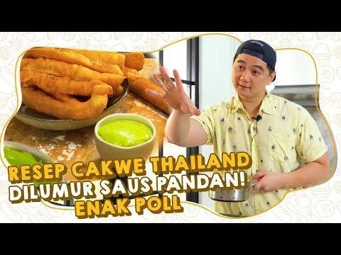 Resep Cakwe Thailand Dilumur Saus Pandan Enak Poll Youtube Resep Makanan Makanan Resep