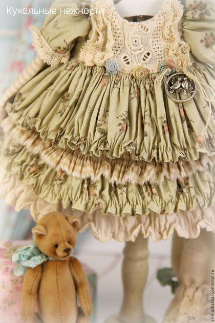 """Одежда для кукол ручной работы. Ярмарка Мастеров - ручная работа. Купить Комплект для куклы  """" Фисташковая нежность"""".…"""