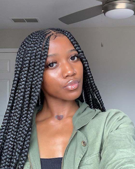 25 Cool Ways To Wear 2 Layer Braids This Season Stayglam Braided Hairstyles Girls Hairstyles Braids Cornrow Hairstyles