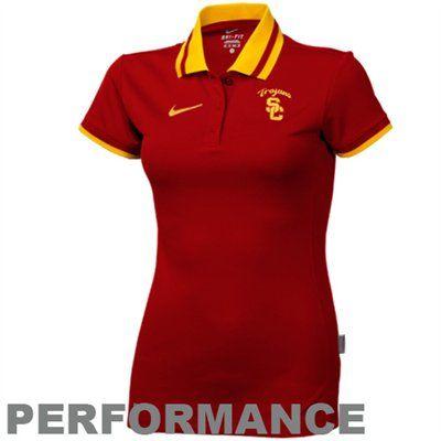 Nike USC Trojans Ladies Cardinal Performance Polo  #UltimateTailgate #Fanatics