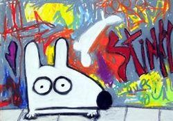 Stinky Graffiti  Stinky strikes again......