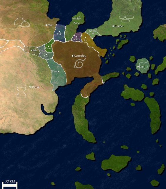 Naruto World Map - DIY and crafts #and #Map #DIYandcrafts