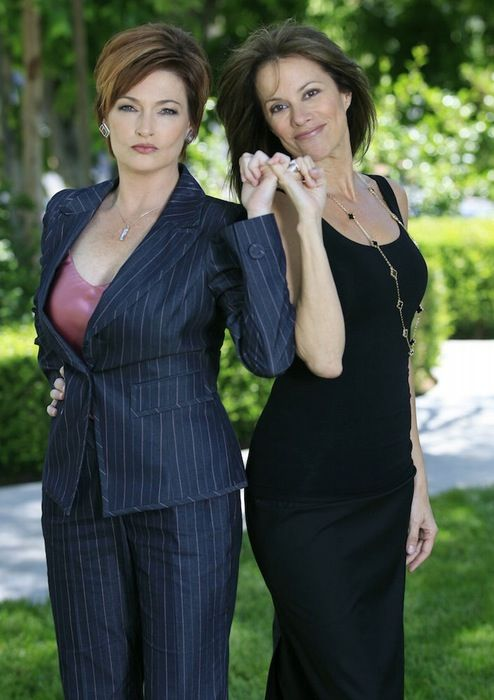 Nancy Lee Grahn and Carolyn Hennesy