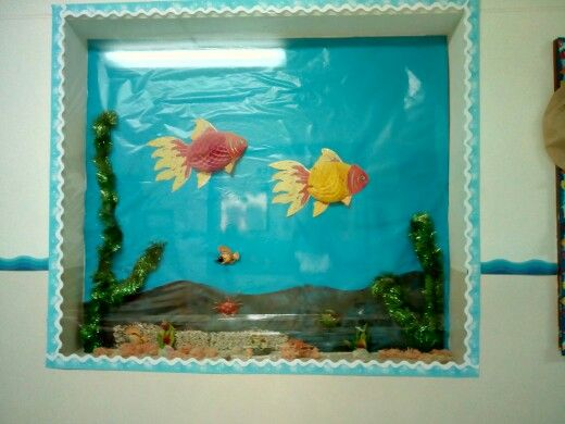 Under the sea bulletine board by kg teachers orbit international school