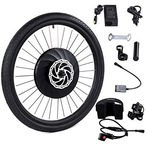 Goplus 26 Front Wheel Electric Bike Conversion Kit E Bike With Battery And Usb Charger 36v 240w In 2020 Electric Bike Conversion Electric Bike Kits Electric Bike