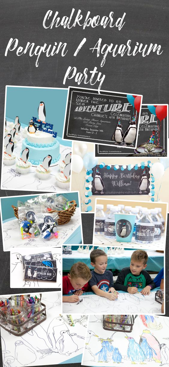 The cutest ever penguin party ideas!  We love this for a winter or aquarium theme.  Click on the photo to see all of these fun, personalized products at Melinda Bryant Party Boutique.  Other sea creatures are available.