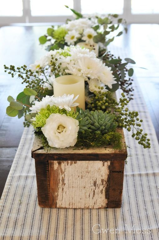 Diy Wood Project 20 Simple Beautiful Wooden Box Centerpiece Ideas For Summ Dining Room Table Centerpieces Dining Room Centerpiece Kitchen Table Centerpiece