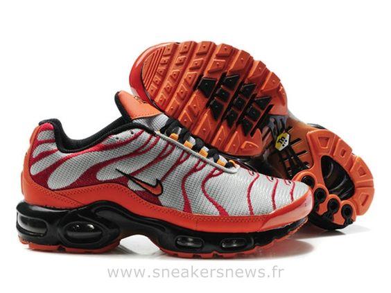 Chaussures de Nike Air Max Tn Requin Homme  Argent et Jaune Nike Tn Officiel