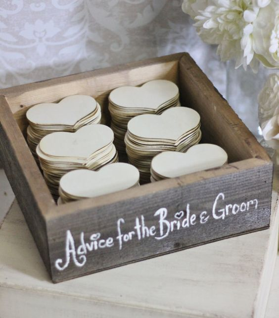 Rustikale Guest Book Box Beratung für die Braut von braggingbags