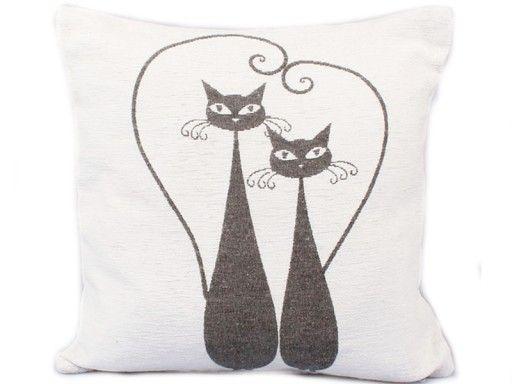 Poszewka Na Poduszke Jasiek Poduszka Kot Kotki 40c Pillows Humanoid Sketch Art