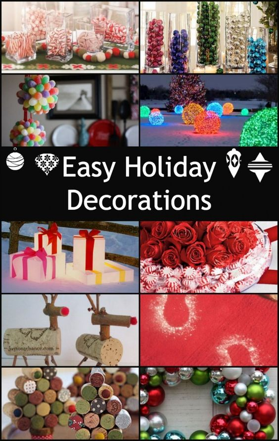 More Easy Holiday Decorations Decks, The christmas and Corks