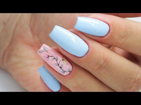 Flowers Nails Art Tutorial Charbonne Youtube Nails Nail Art Tutorial Nail Art