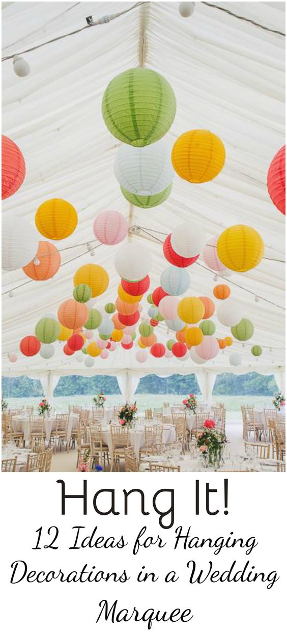 Get ideas and inspiration from Hatch Marquee Hire as to how to decorate the roof space of your wedding marquee.