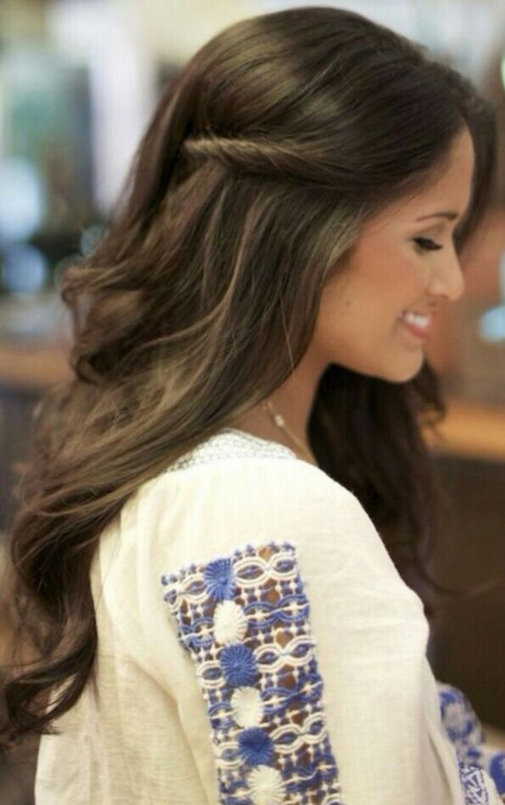 Half up wavy hair #gorgeoushair